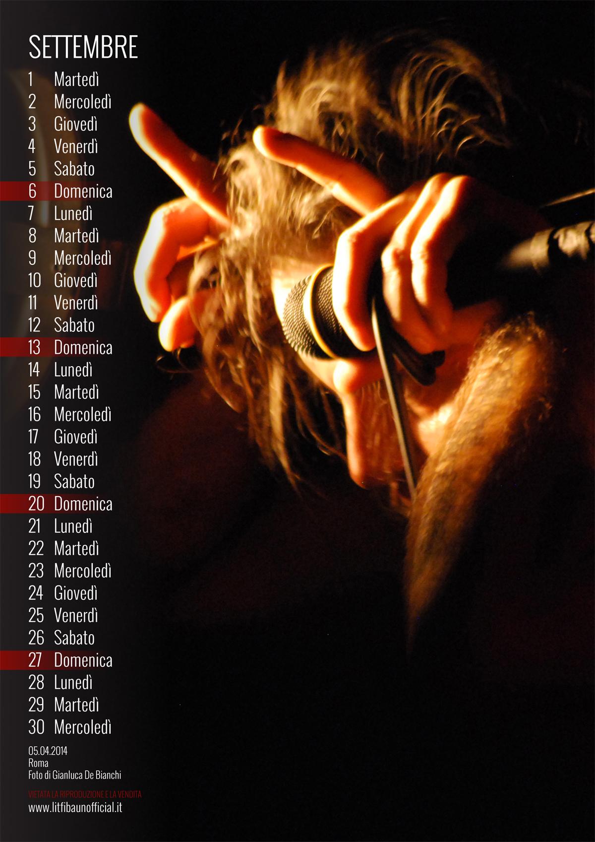 calendario Litfiba 2015 - Settembre