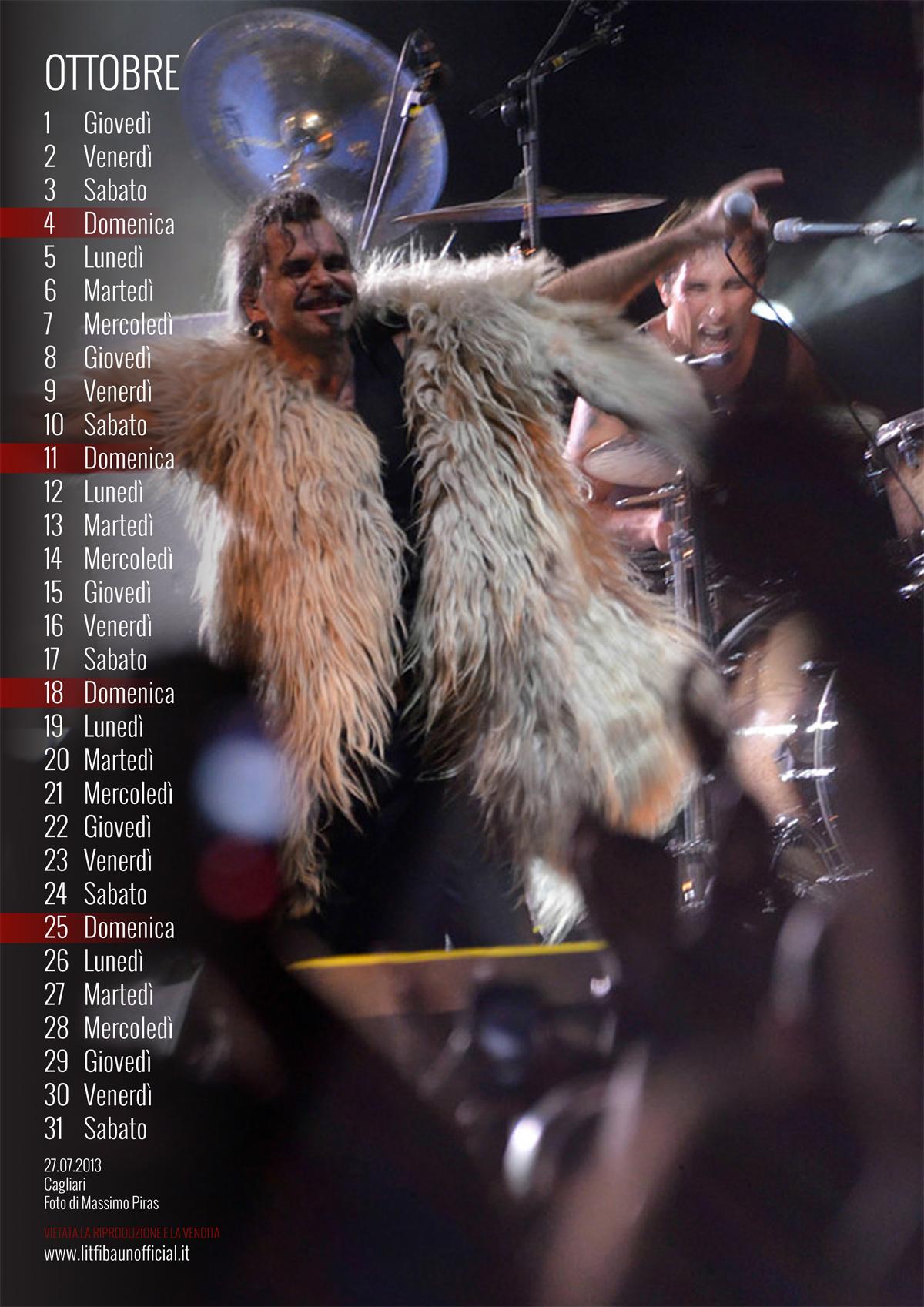 calendario Litfiba 2015 - Ottobre