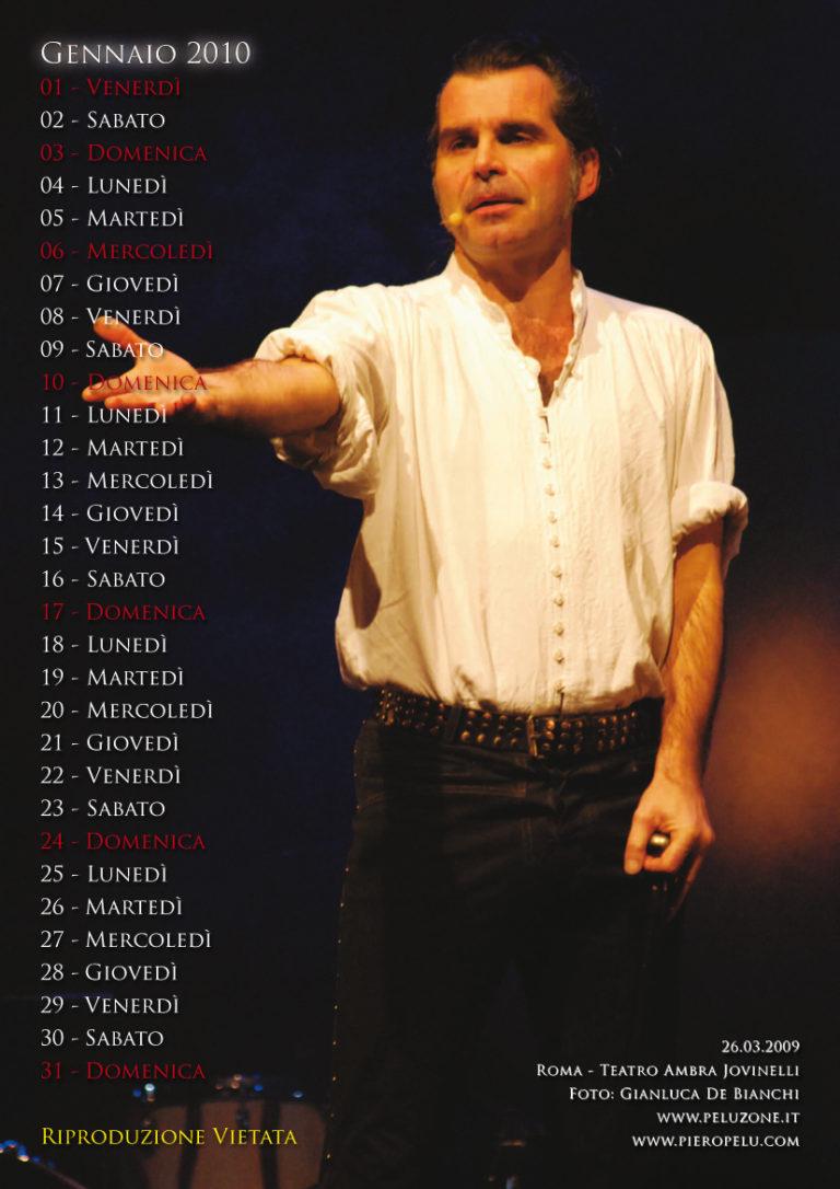 calendario Piero Pelù 2010 - Gennaio