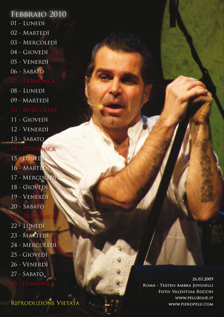 calendario Piero Pelù 2010 - Febbraio