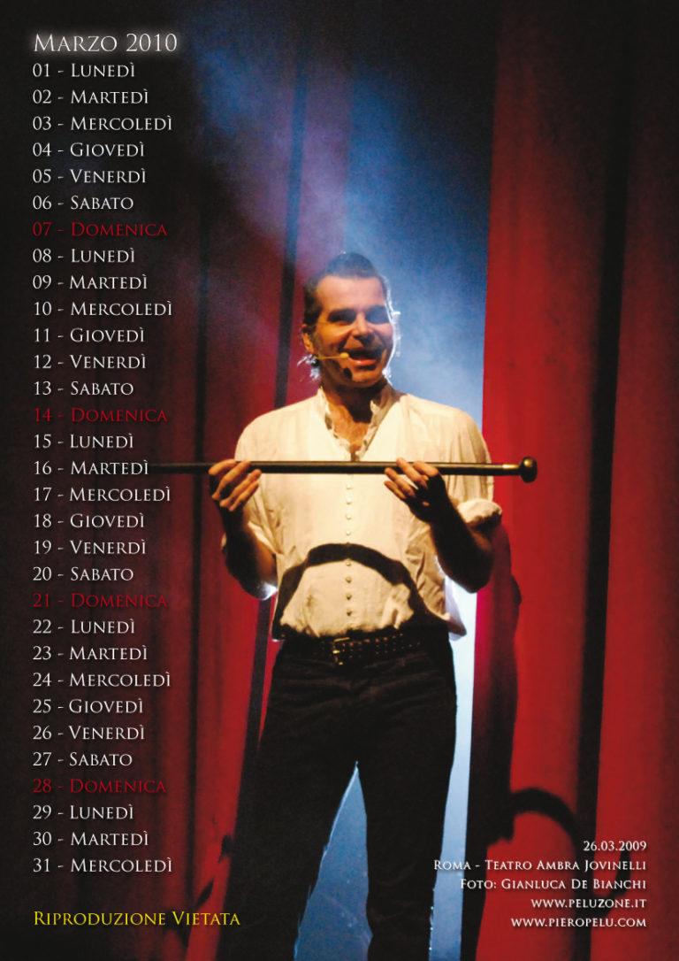 calendario Piero Pelù 2010 - Marzo