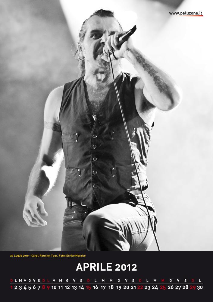 calendario Litfiba 2012 - Aprile