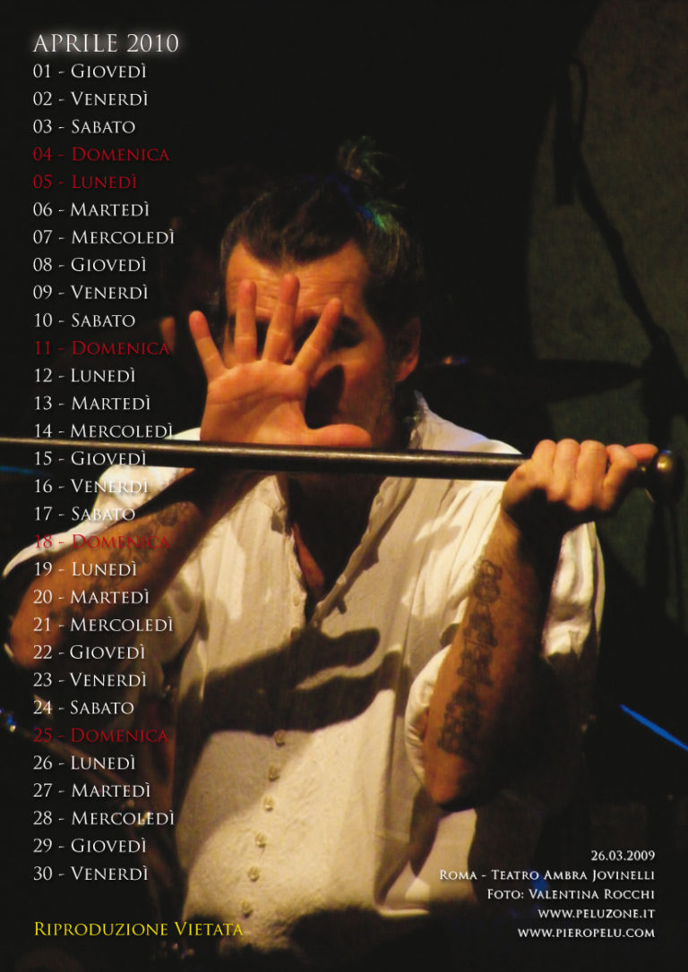 calendario Piero Pelù 2010 - Aprile