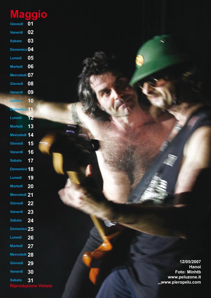 calendario Piero Pelù 2008 - Maggio