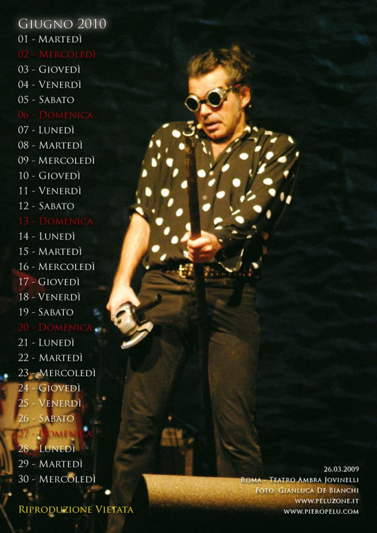calendario Piero Pelù 2010 - Giugno