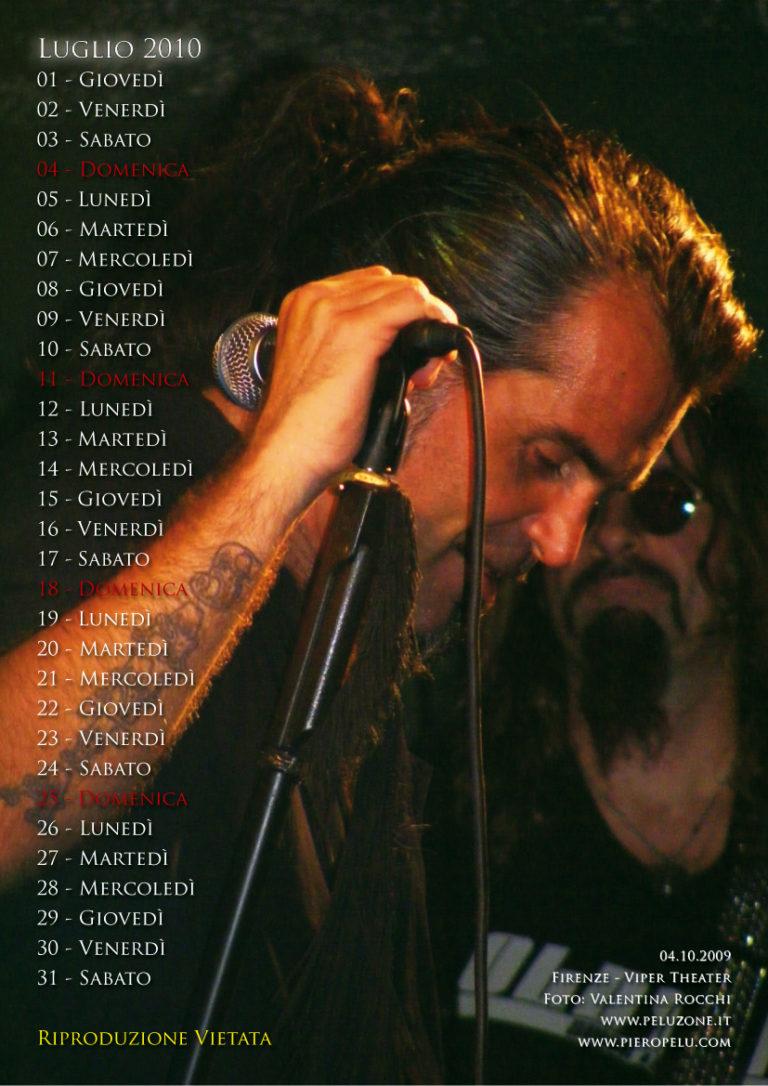 calendario Piero Pelù 2010 - Luglio