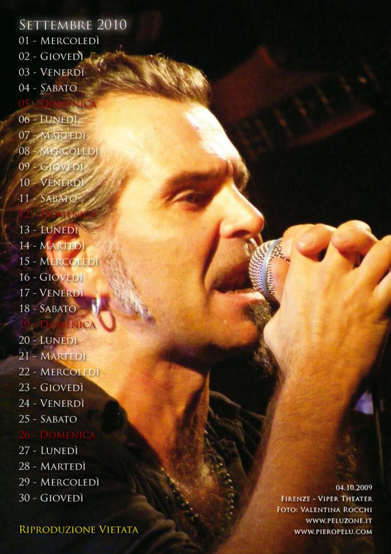 calendario Piero Pelù 2010 - Settembre