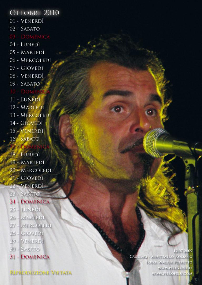 calendario Piero Pelù 2010 - Ottobre