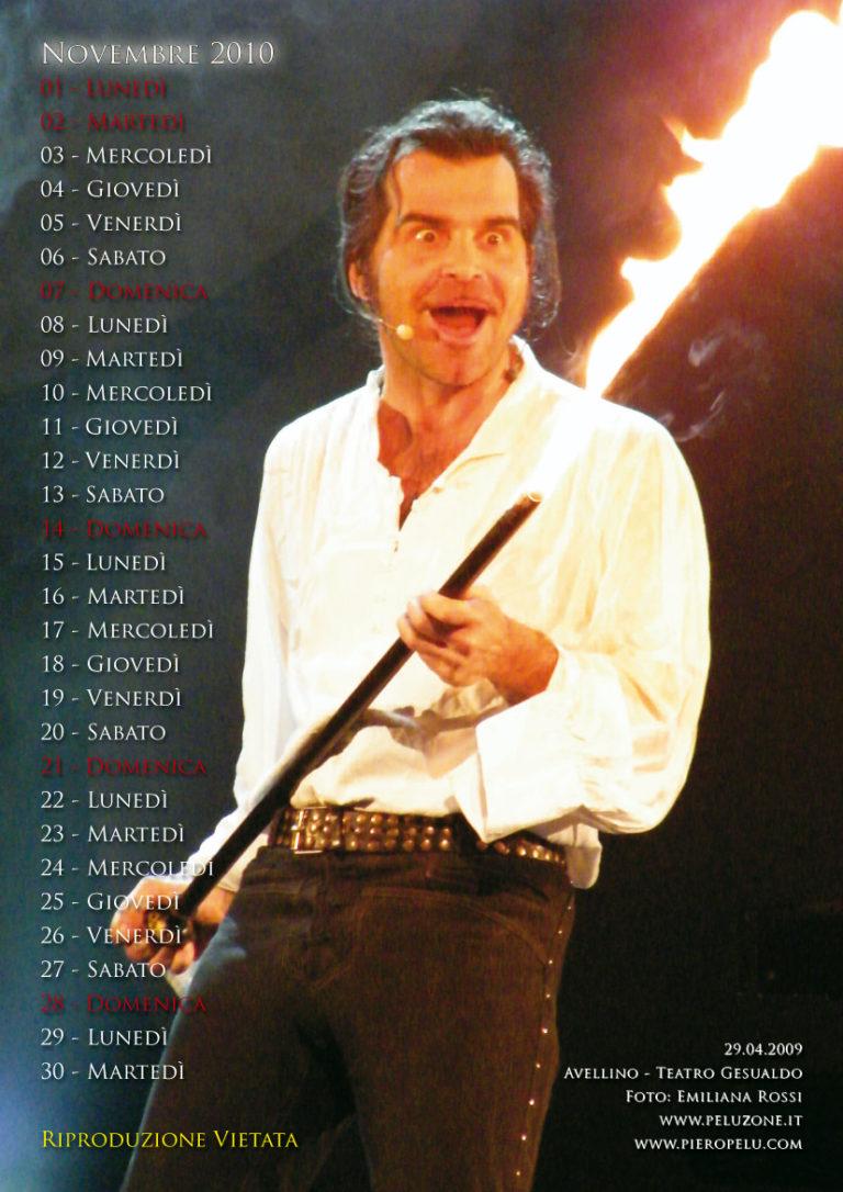 calendario Piero Pelù 2010 - Novembre