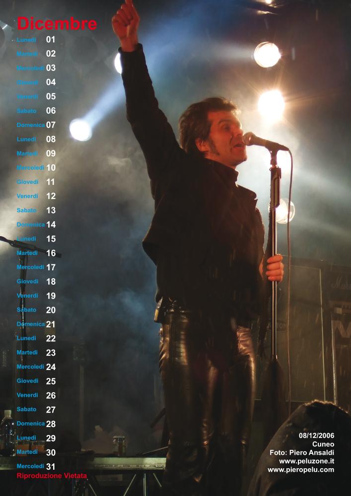 calendario Piero Pelù 2008 - Dicembre