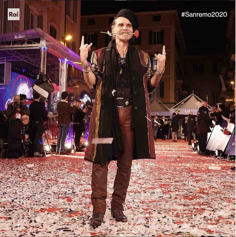 Piero Pelù Sanremo 2020
